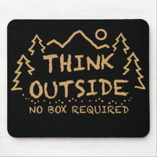 Denken Sie draußen, kein erforderter Kasten Mauspads