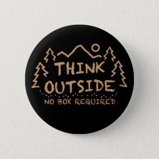 Denken Sie draußen, kein erforderter Kasten Runder Button 5,1 Cm