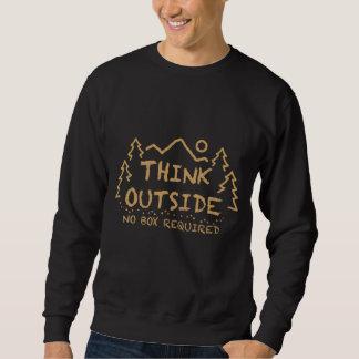 Denken Sie draußen, kein erforderter Kasten Sweatshirt