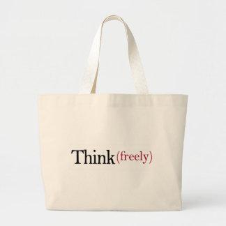 Denken Sie frei Einkaufstaschen