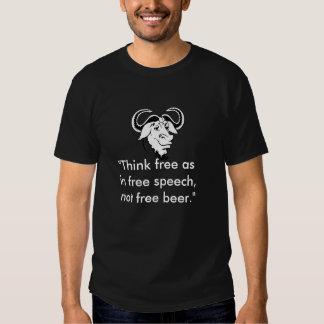 """""""Denken Sie frei wie in der Redefreiheit, nicht T Shirt"""