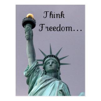 Denken Sie Freiheit! Postkarte