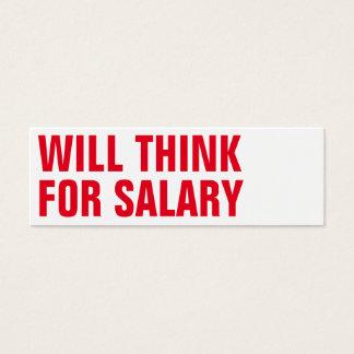 denken Sie Gehaltskünstler Mini Visitenkarte