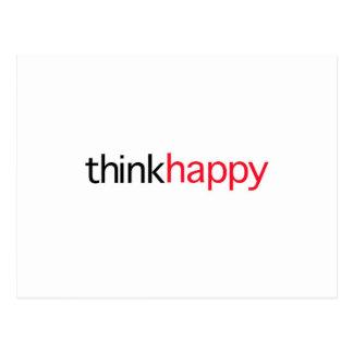 Denken Sie glückliches (rote Ausgabe) Postkarte