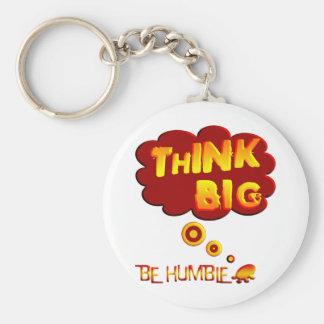 Denken Sie großes Schlüsselanhänger