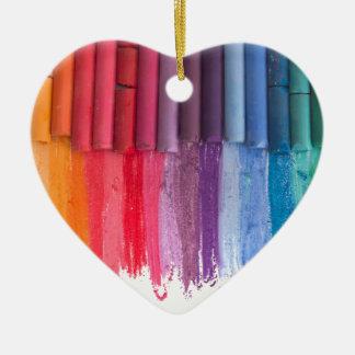 denken Sie in der Farbe Keramik Herz-Ornament