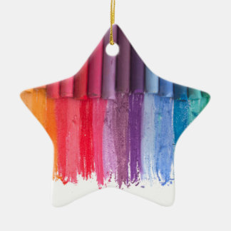 denken Sie in der Farbe Keramik Stern-Ornament