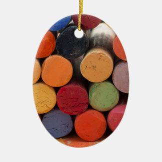 denken Sie in der Farbe Ovales Keramik Ornament