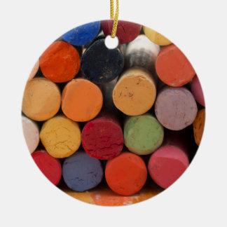 denken Sie in der Farbe Rundes Keramik Ornament