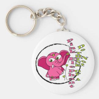 Denken Sie nicht an einen rosa Elefanten Schlüsselanhänger