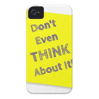 Denken Sie nicht einmal an es iPhone 4 Case-Mate Hülle