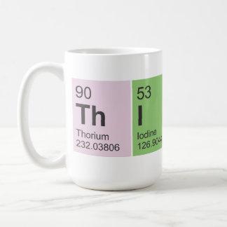 Denken Sie periodische Tabellenelemente Kaffeetasse