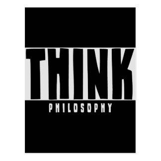 Denken Sie Philosophie Postkarte