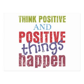 Denken Sie Positiv Postkarte
