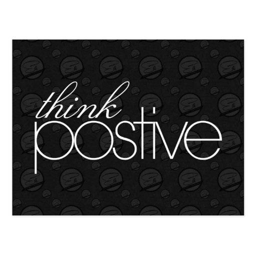 Denken Sie positive Postkarte