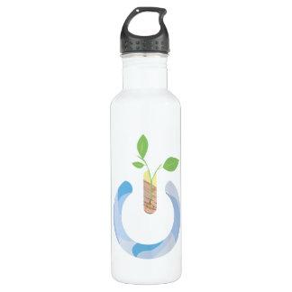 Denken Sie Power Edelstahlflasche