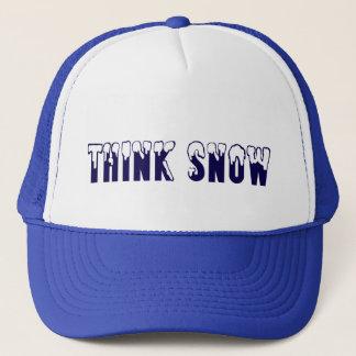 Denken Sie Schnee Truckerkappe