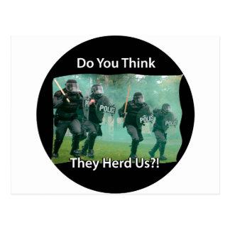 Denken Sie sie in Herden leben (gehörte) uns Postkarte