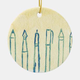 denken Sie voran Keramik Ornament