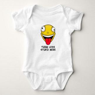 Denken Sie weniger, dumm mehr Baby Strampler