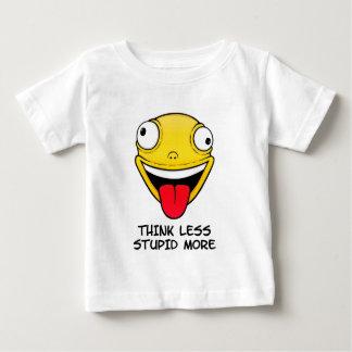 Denken Sie weniger, dumm mehr Baby T-shirt