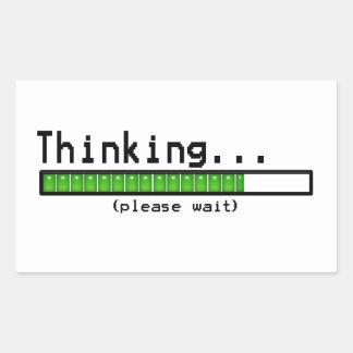 Denken… Warten Sie bitte lustige Aufkleber