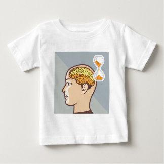Denkende Prozessgehirn-und Sand-Uhr Baby T-shirt