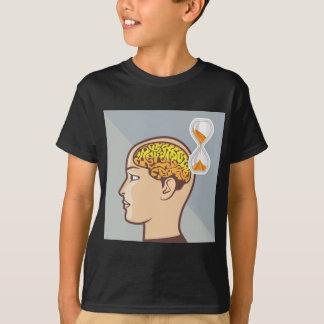 Denkende Prozessgehirn-und Sand-Uhr T-Shirt