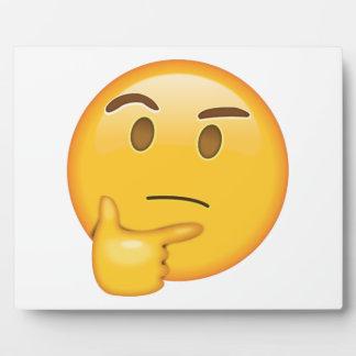 Denkendes Gesicht - Emoji Fotoplatte