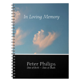 Denkmal-ErinnerungGuestBook der Gesichts-Wolken-2 Spiral Notizblock