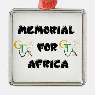 Denkmal für Afrika-Zusätze Quadratisches Silberfarbenes Ornament