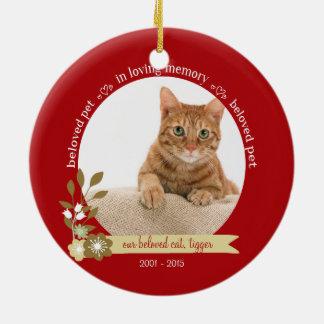 Denkmal für Haustier Weihnachtsam Keramik Ornament
