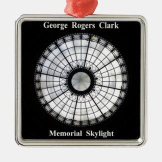 Denkmal Georges Rogers Clark Quadratisches Silberfarbenes Ornament