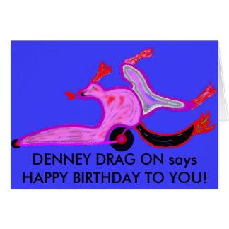 Denney Widerstand auf Geburtstagskarte Karte