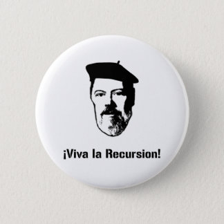 Dennis Ritchie: ¡ Viva La Rekursion! Knopf Runder Button 5,1 Cm