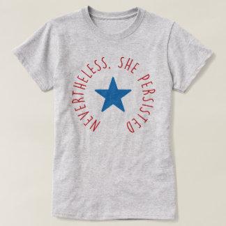 Dennoch bestand sie fort. | blauer Stern T-Shirt