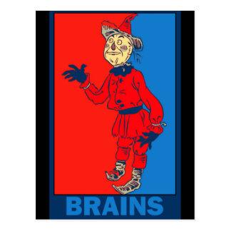 Denslows Zauberer von Oz: Gehirne Postkarte