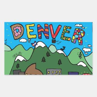 Denver-Aufkleber Rechteckiger Aufkleber