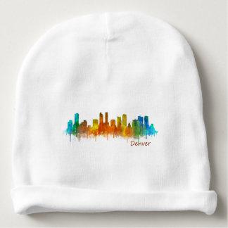 Denver Colorado City Skyline v02 Babymütze