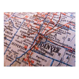 Denver-Karte Postkarte