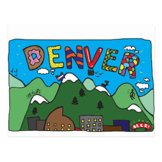 Denver-Postkarte Postkarte