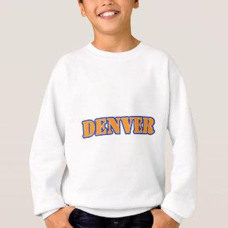 Denver-Schablonen-orange Blau Sweatshirt