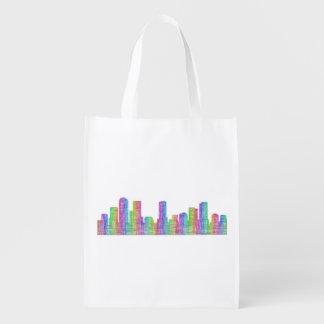 Denver-Stadt-Skyline Wiederverwendbare Einkaufstasche