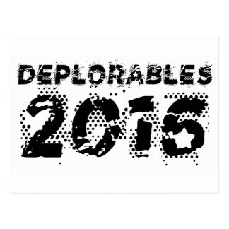 Deplorables 2016 postkarte