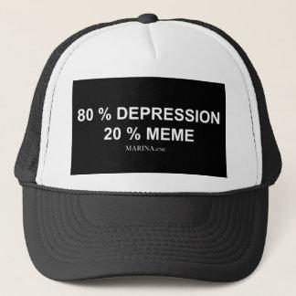 DEPRESSION/MEME - Fernlastfahrer-Hut Truckerkappe
