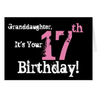 Der 17. Geburtstag der Enkelin, Schwarzes, Weiß, Karte