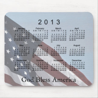 Der 2013 Kalender-Gott segnen Amerika Mousepad
