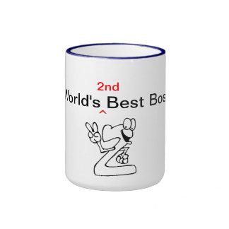 Der 2. beste Chef der Welt Ringer Tasse