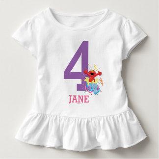 Der 4. Geburtstag des Mädchens des Sesame Street-| Kleinkind T-shirt