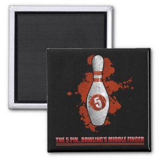 Der 5 Button-(rote) Magnet Quadratischer Magnet